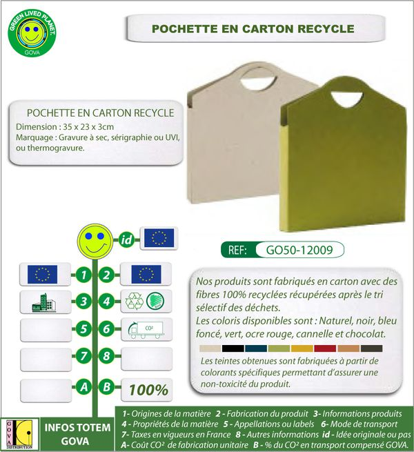 Mallette en carton recycle ref 12009