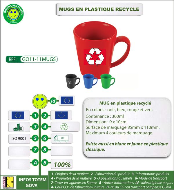 Mugs en plastique 300ml recycle fabrication europe-copie-1