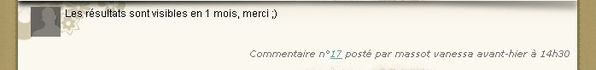 commentaire gagnant