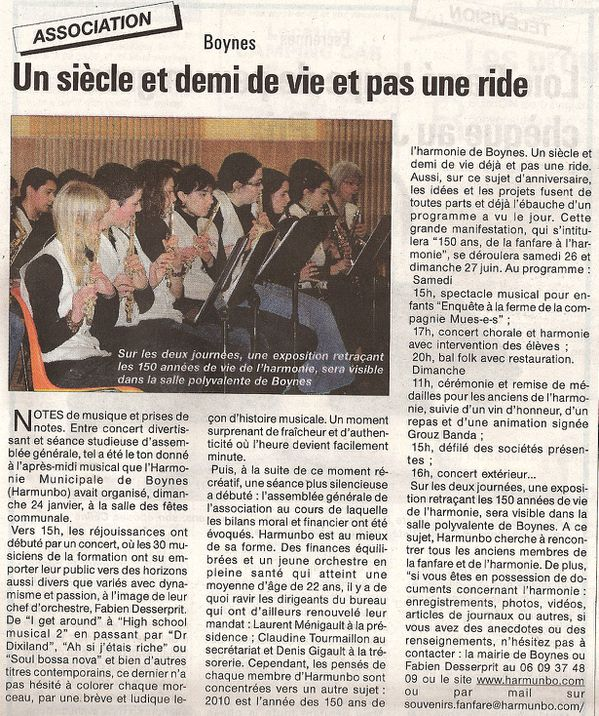 Article Courrier 28 01 2010 Boynes