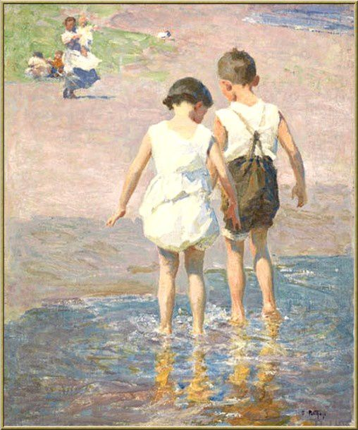 7-EDWARD-HENRY-POTTHAST-girls--BROTHER-AND-SISTER-OIL-PAINT.jpg