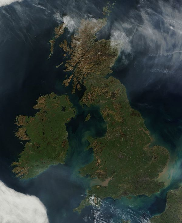 Terra - Modis - UK - Ireland - 26-03-2012 - 500m