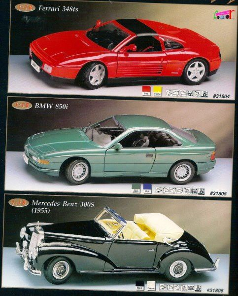catalogue-maisto-1996-ferrari-348ts-bmw-850i-