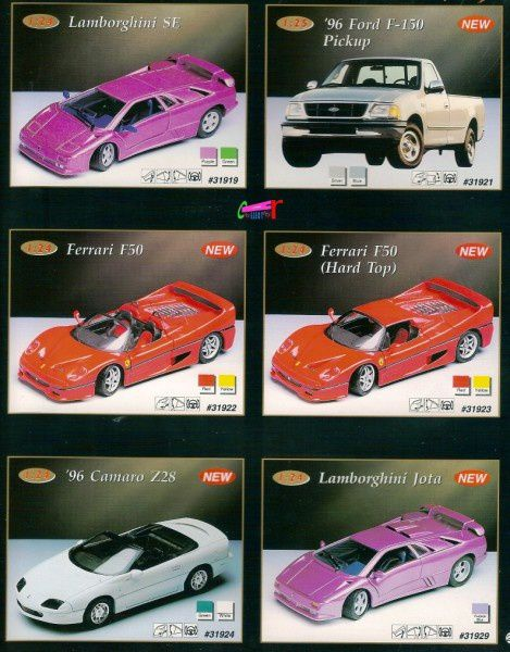 catalogue-maisto-1996-z28-lamborghini-se