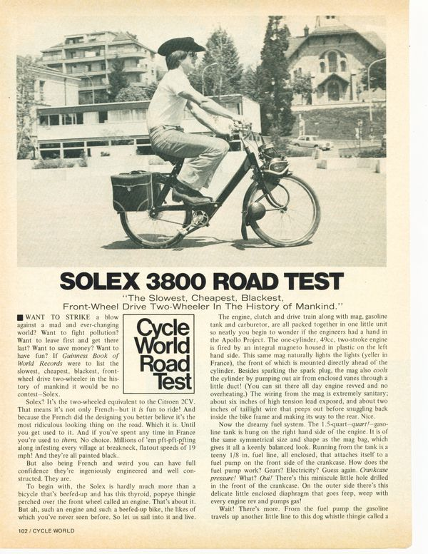 Solex Road Test pg 1
