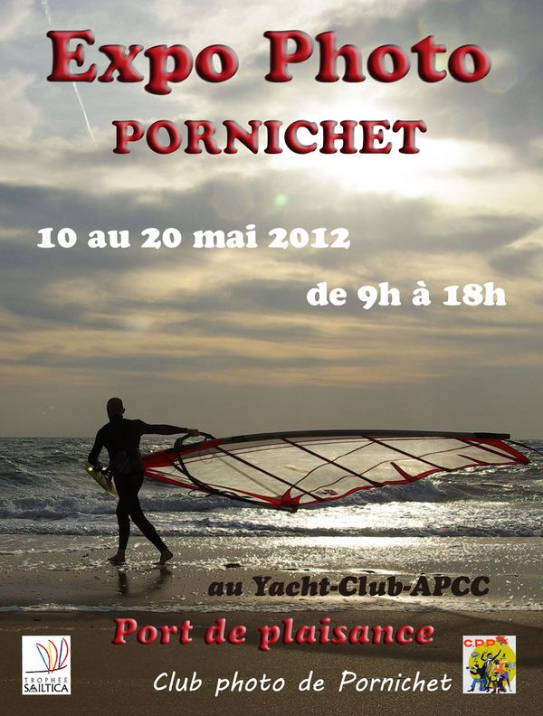 AFFICHE EXPOSITION CLUB PHOTO PORNICHET PORT PLAISANCE YACH