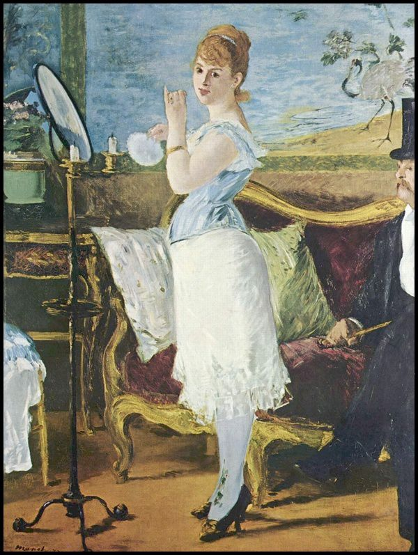 Manet for Devant le miroir manet
