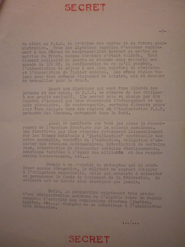 Réaction du FLN aux accords d'Evian - 04-04-1962 3