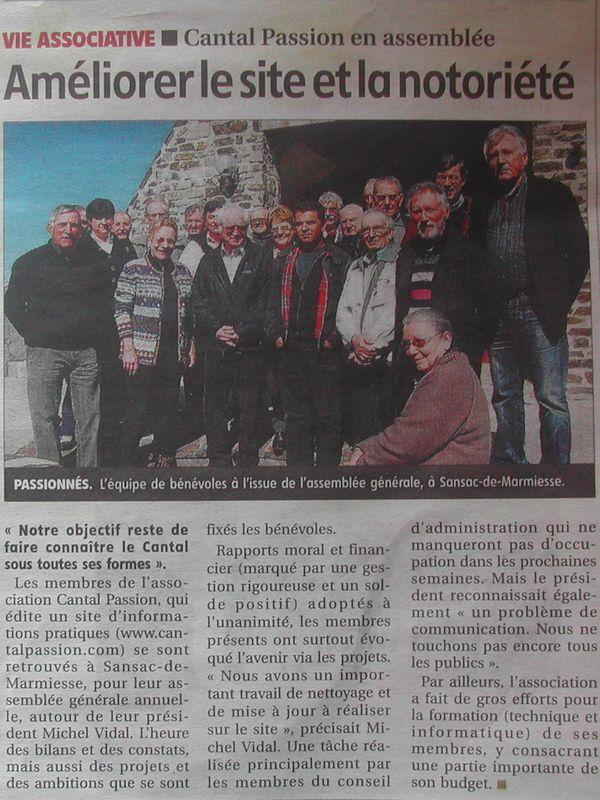 Cantal Passion 24.3.2012