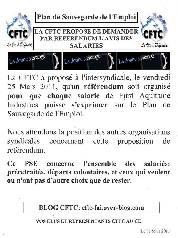 PSE référendum 31 Mars 2011