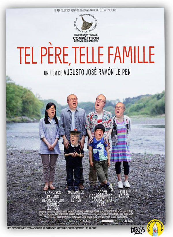 le pen pere et fille famille front national