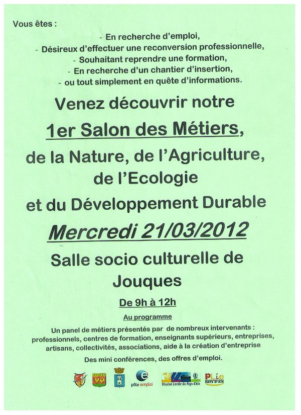 salon des m tiers de la nature de l 39 agriculture et de l 39 ecologie jouques le 21 mars 2012. Black Bedroom Furniture Sets. Home Design Ideas