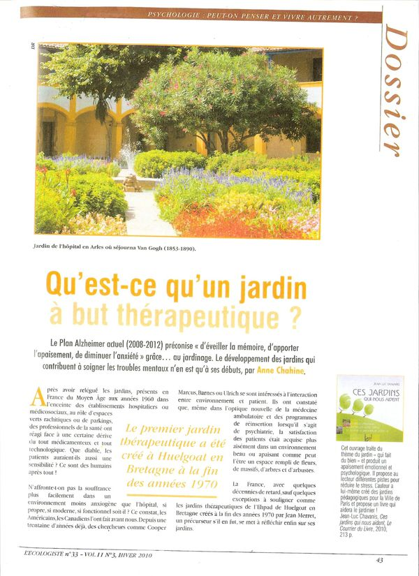 Un jardin but th rapeutique blog association du devois for Article jardin