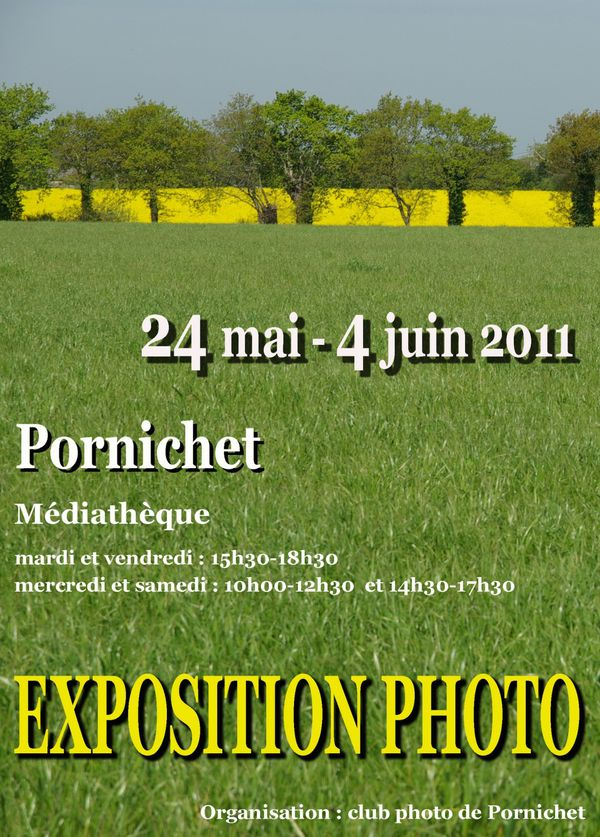 affiche exposition photo club pornichet 2011 mai juin
