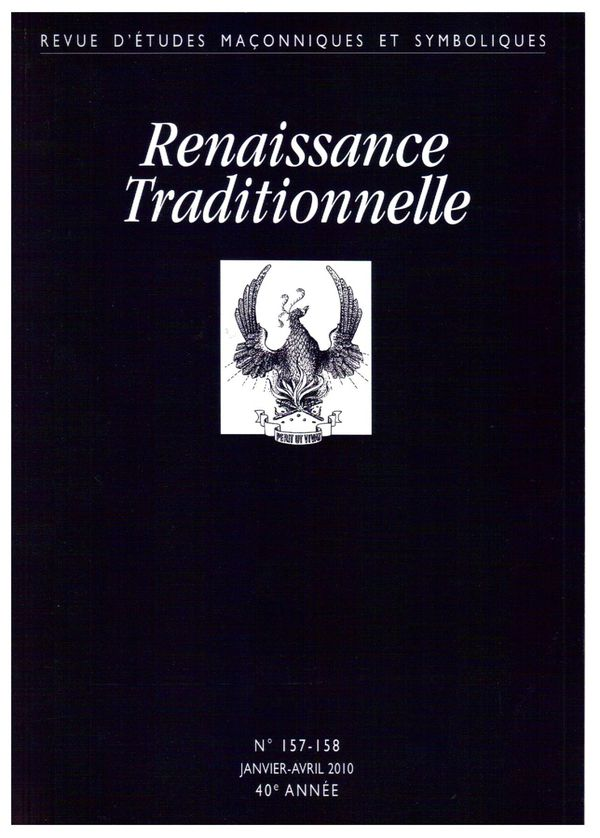 Renaissance Traditionnelle, N°157-158, JANVIER-AVRIL 2010