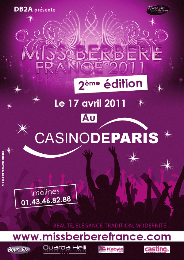 casting miss berbere france 2edition