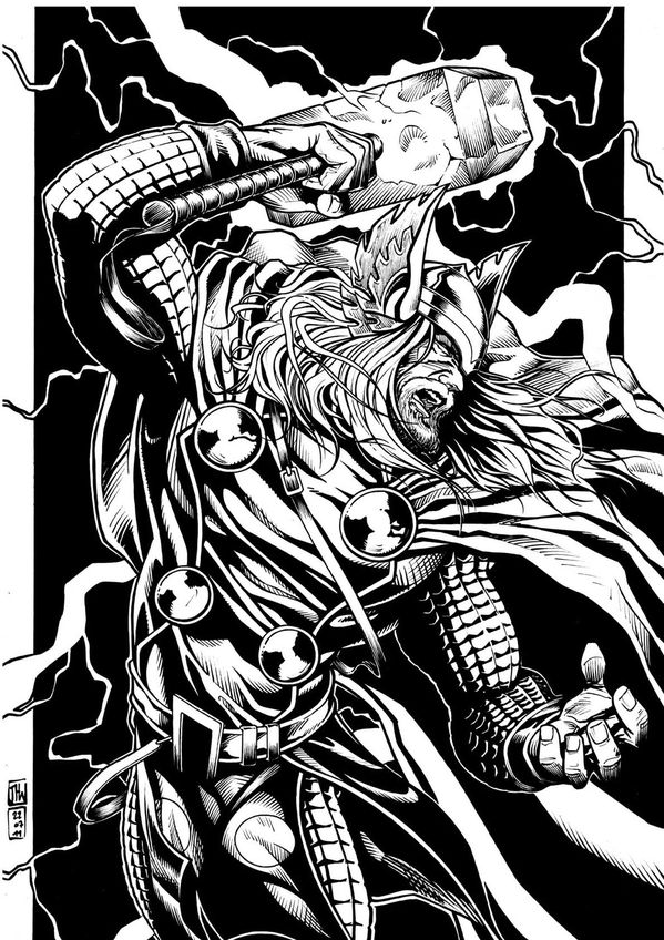 Thor by JH Wzgarda-ink