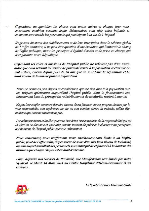 Lettre aux Elus Mars 2014 2