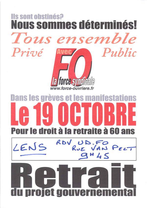 Manifestation Lens 19 octobre 2010