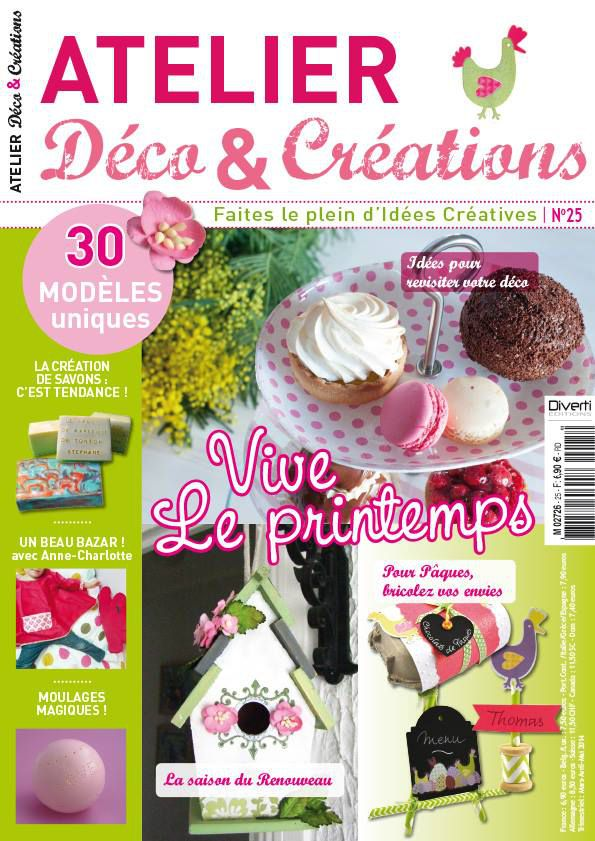 publications magazines atelier deco creations n 25 moul le blog de diddlindsey. Black Bedroom Furniture Sets. Home Design Ideas