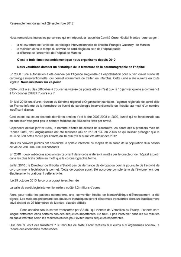 Intervention 29 septembre 2012 Page 1