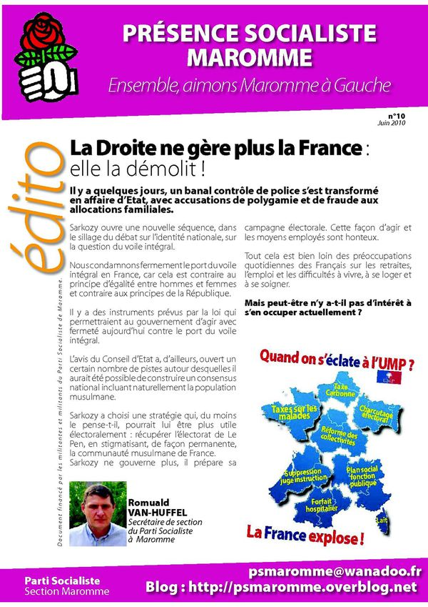 Journal Section Juin 2010 Edito
