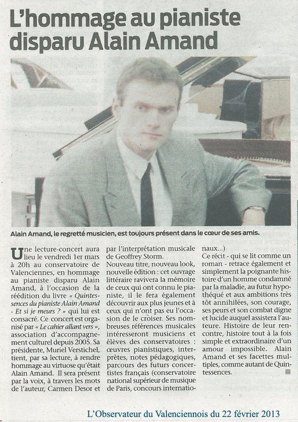 Article Observateur du Valenciennois 1 du 22 février 2013