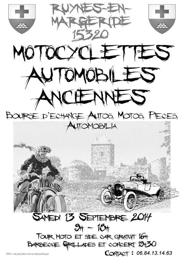 Affiche anciennes en MARGERIDE 13 Septembre 2014