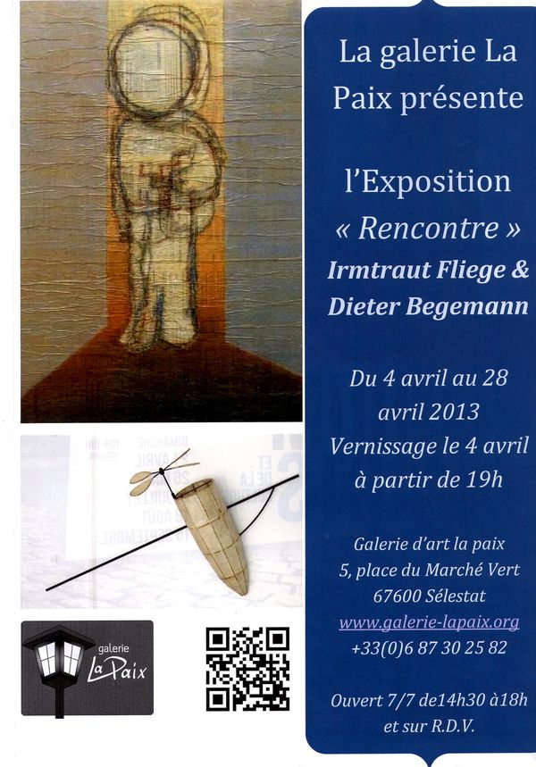 Invitation exposition avril 2013 Vernissage le 4 avril 2013