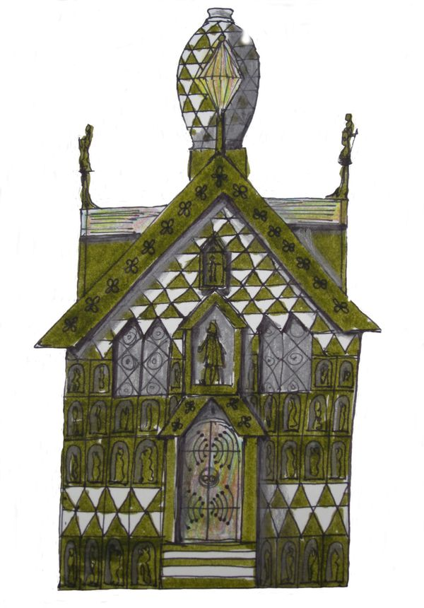 FAT + grayson perry- Essex House Front Image Sketch