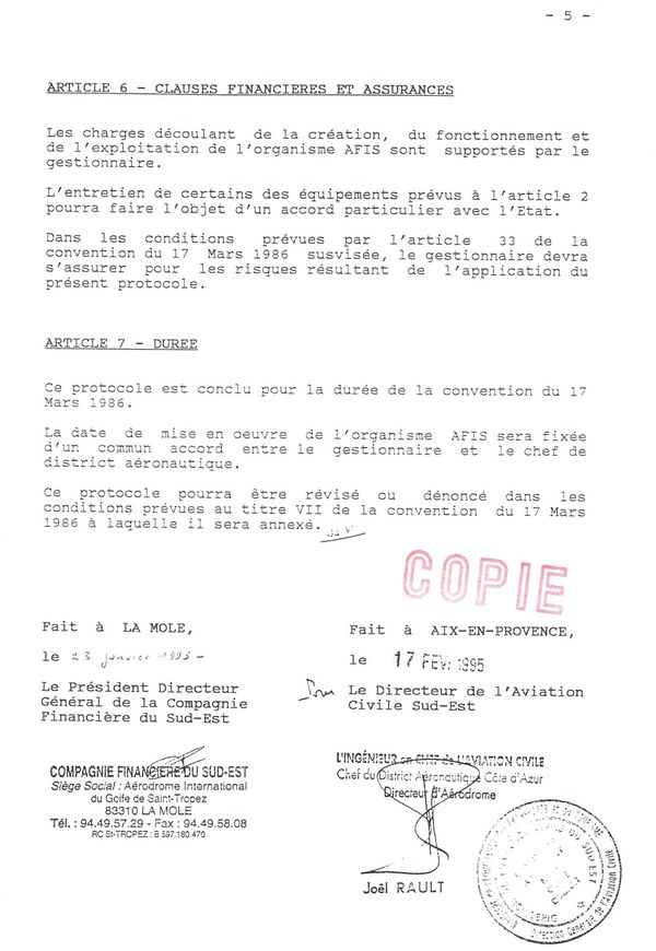 1995 protocol AFIS 5
