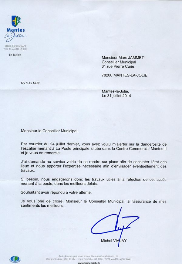 Poste Reponse Maire