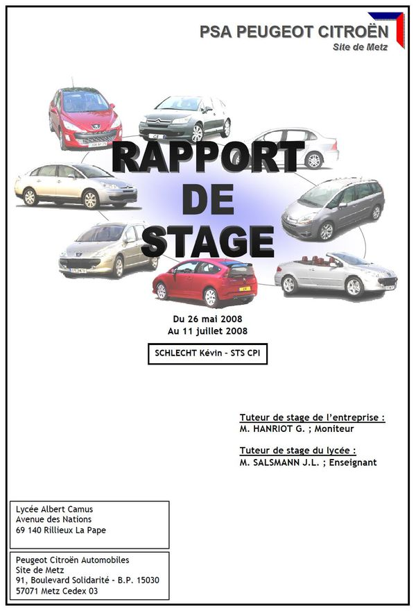 Rapport De Stage Ecrit Le Blog De Ressources Cpi Blog