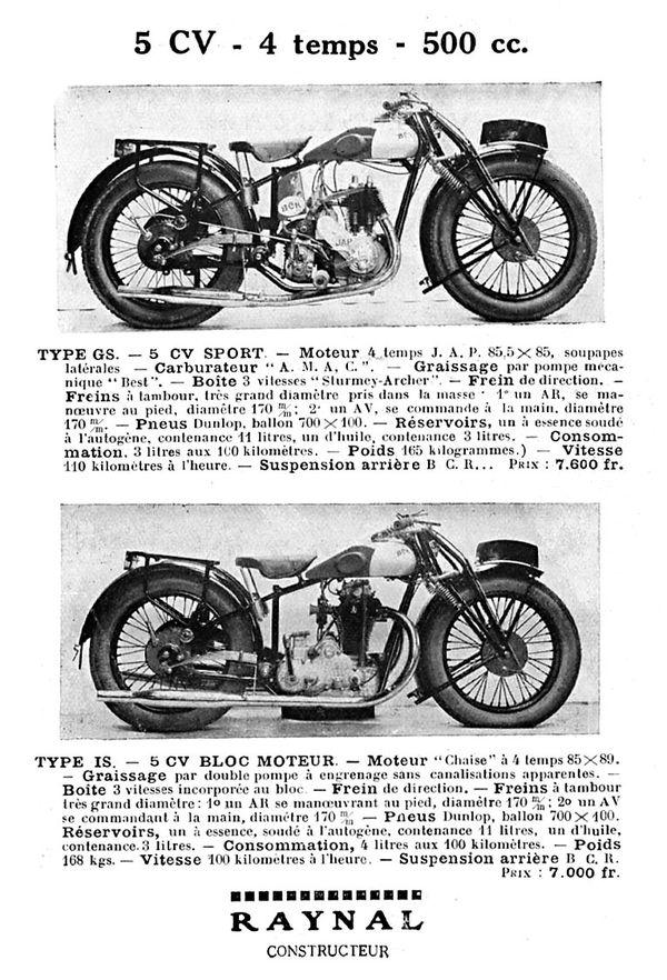 1929 BCR 500 4 temps
