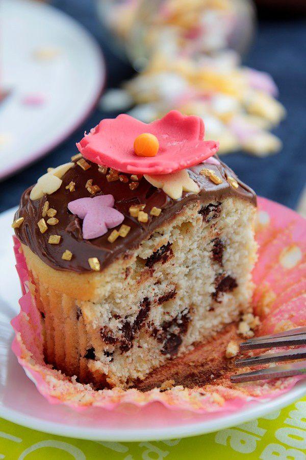 Cupcakes Printaniers aux Pépites de Chocolat 26