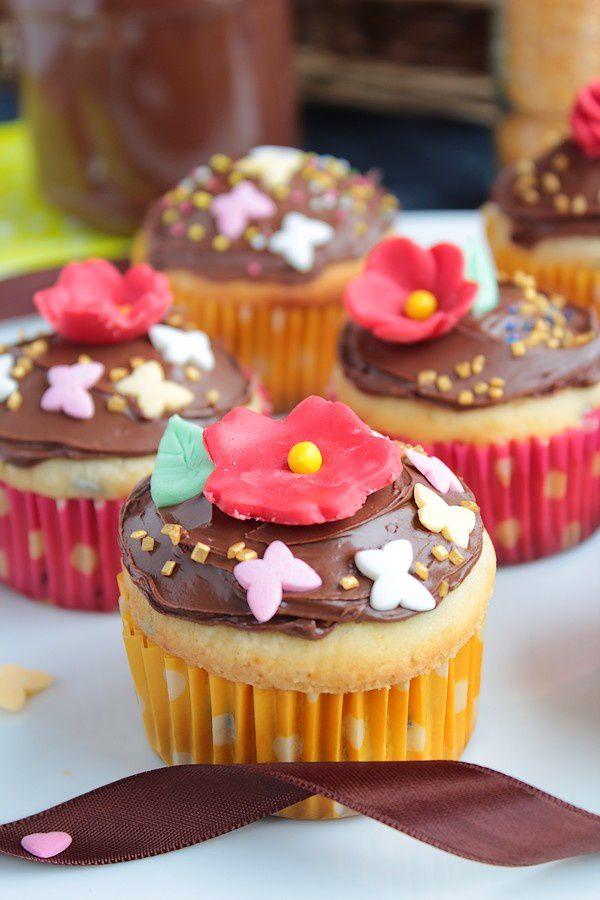 Cupcakes Printaniers aux Pépites de Chocolat