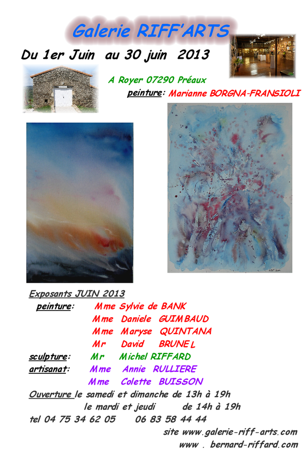 ouverture galerie 2013 MARIANNE BORGNA 2