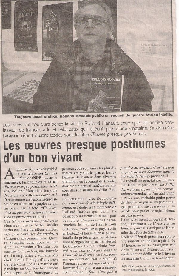 article posthumes Marseillaise