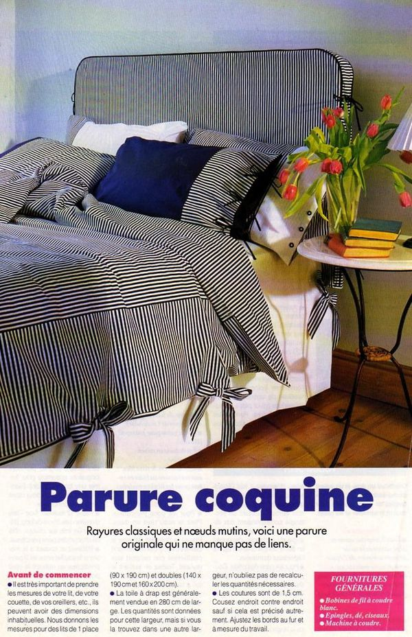 couture la parure de lit marine la boutique du tricot. Black Bedroom Furniture Sets. Home Design Ideas