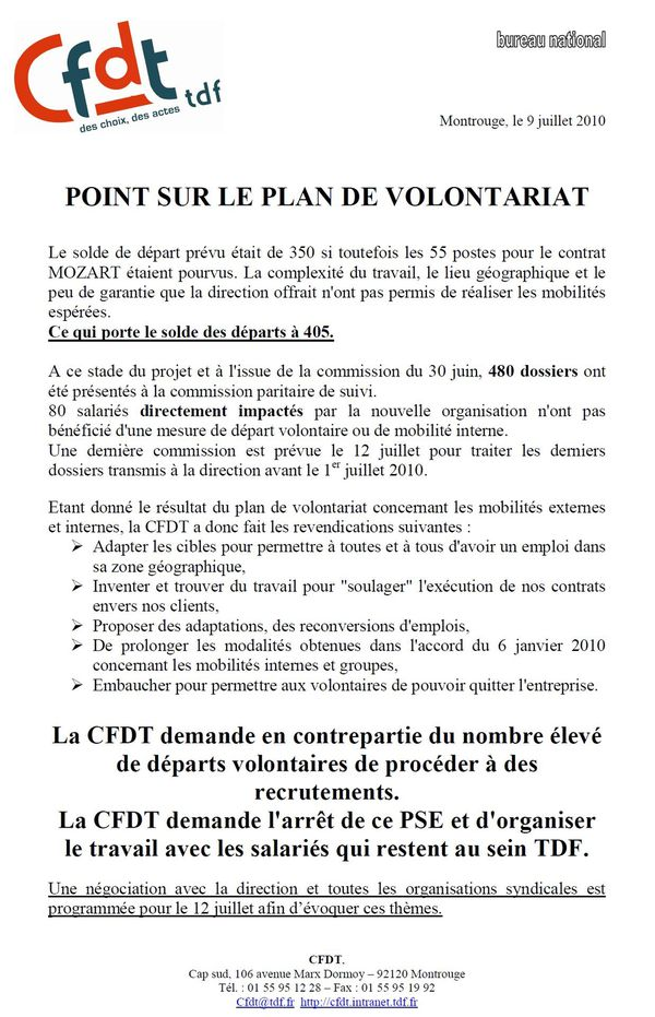 Tract CFDT Fin PDV