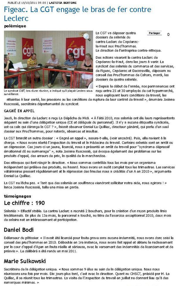 Ladépêche.fr 15octobre2011