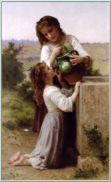 2 William-Adolphe Bouguereau (1825-1905) - At The Fountain