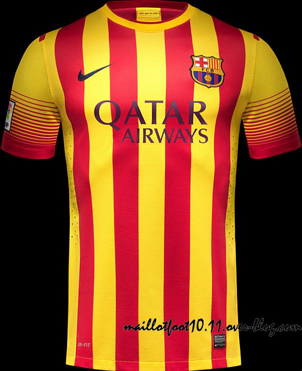 Fc barcelone maillots 2013 2014 for Maillot barcelone exterieur