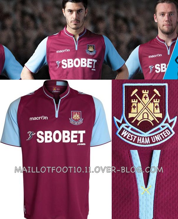 maillot 2012-13 New-home-kit-west-ham-2013-