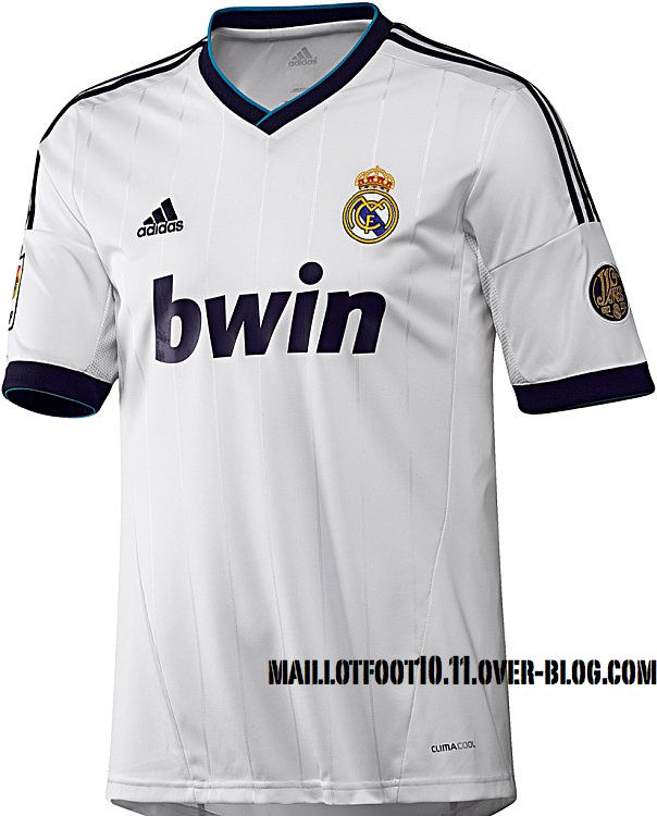 Le maillot domicile 2012 2013 du Real Madrid