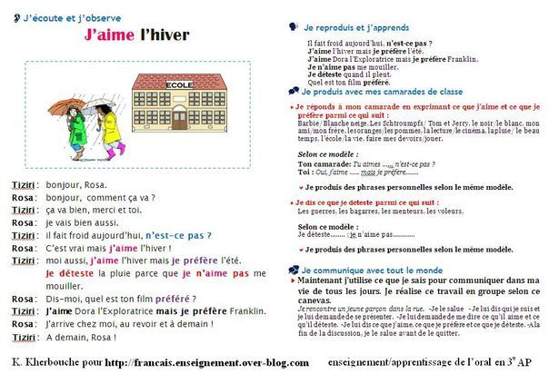 Texte support comprehension orale