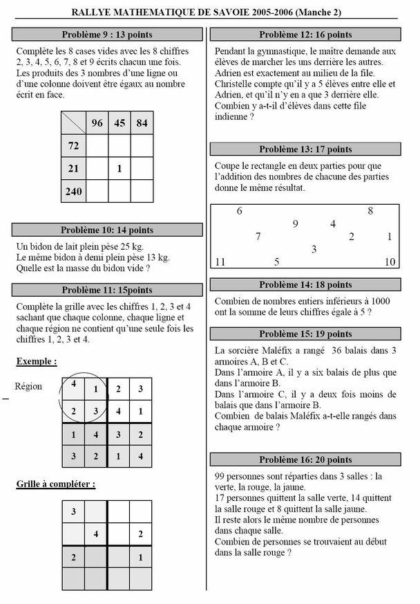 Rallye maths