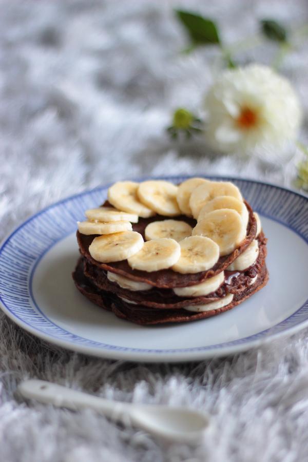 crêpe choco banane nutella