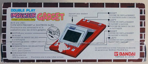 INSPECTEUR GADGET GAME&WATCH BANDAI BOX 2