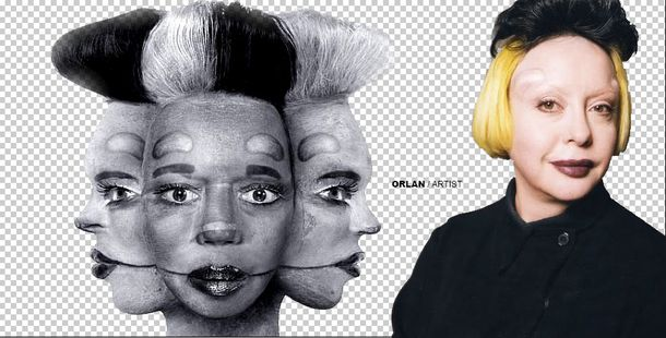 lady gaga on born this way cover inspired by orlan teh fren